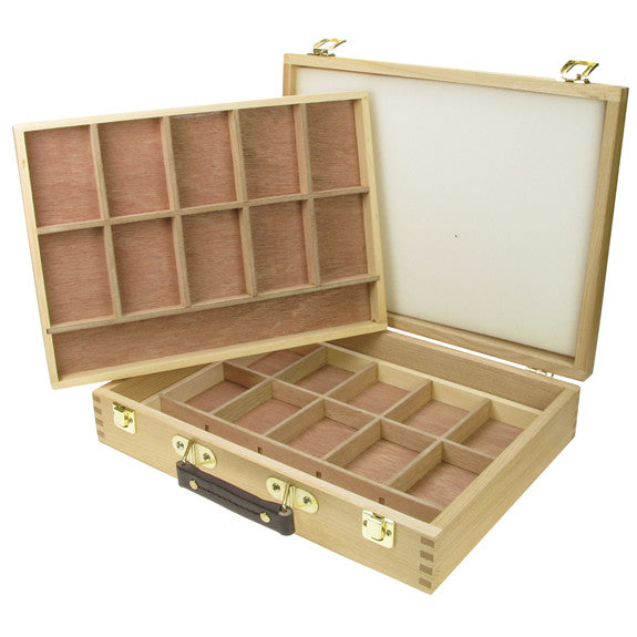 Artist Wooden Storage Boxes 2 Tray Pastel Box