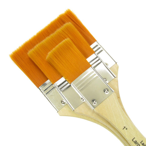 Royal Large Area Brush Set - Gold Taklon Medium 3 Pack