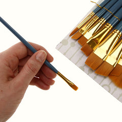 Royal Brush ZipLock Set - Medium Gold Taklon Round Variety