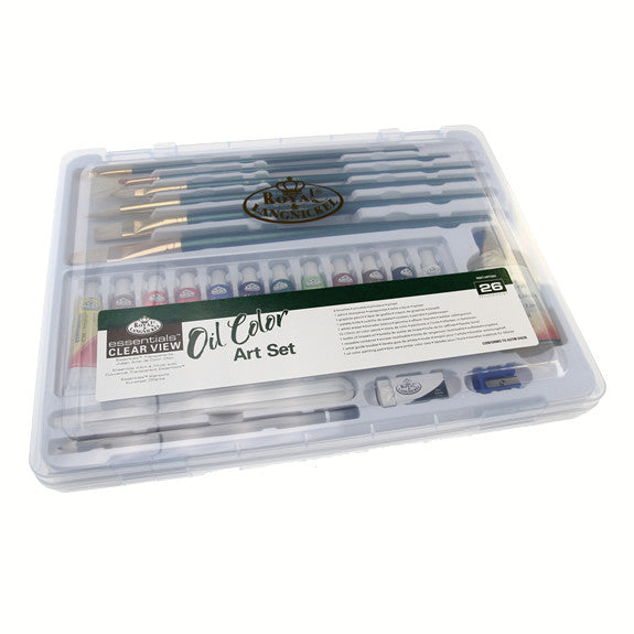 Royal Large Clear Case Art Sets - Oil