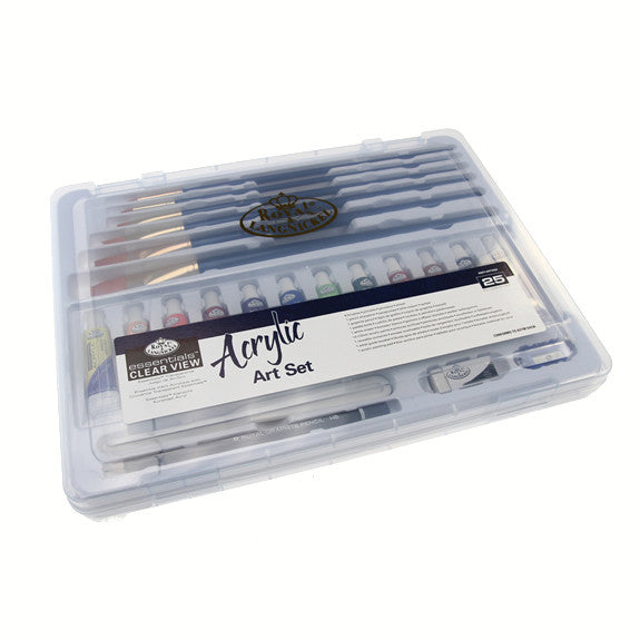 Royal Large Clear Case Art Sets - Acrylic