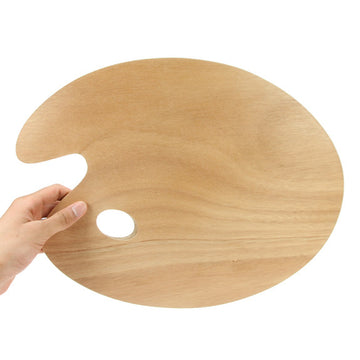 Large Plywood Oval Palette