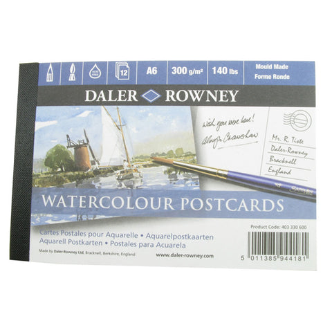Daler Watercolour Postcard Pad A6