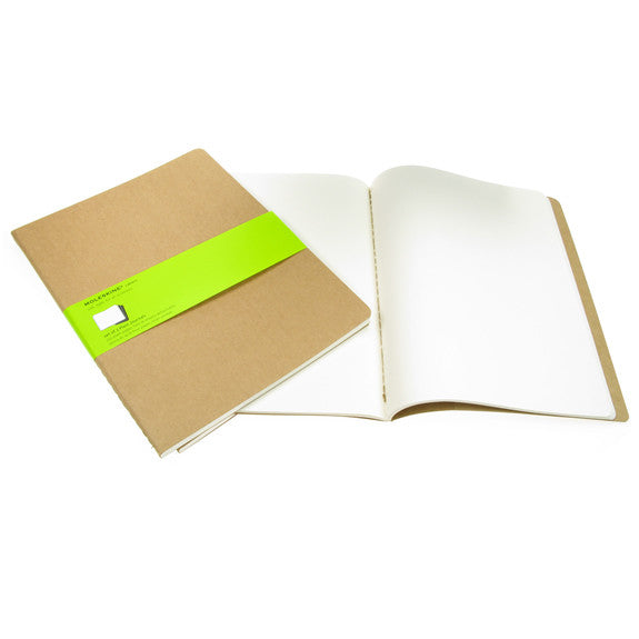 Moleskine Cahiers X Large Plain Journals Kraft Cover