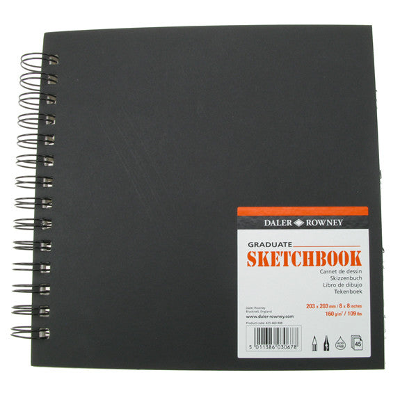 Daler Rowney Graduate Sketchbook Value - 203mm x 203mm