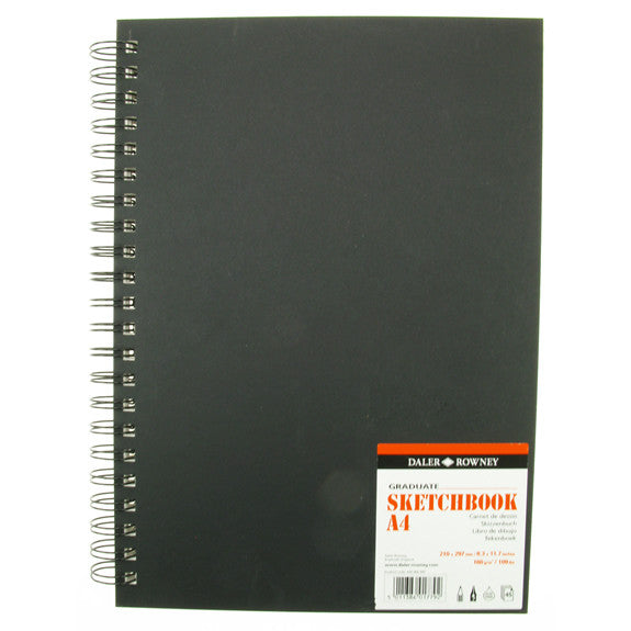 Daler Rowney Graduate Sketchbook Value A4 - 210mm x 149mm Portrait Jumbo