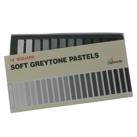 Inscribe Greytone Pastels 12