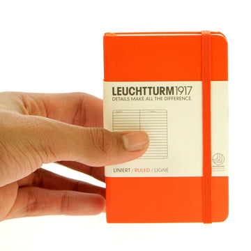 Leuchtturm 1917 Notebook Mini Ruled Orange