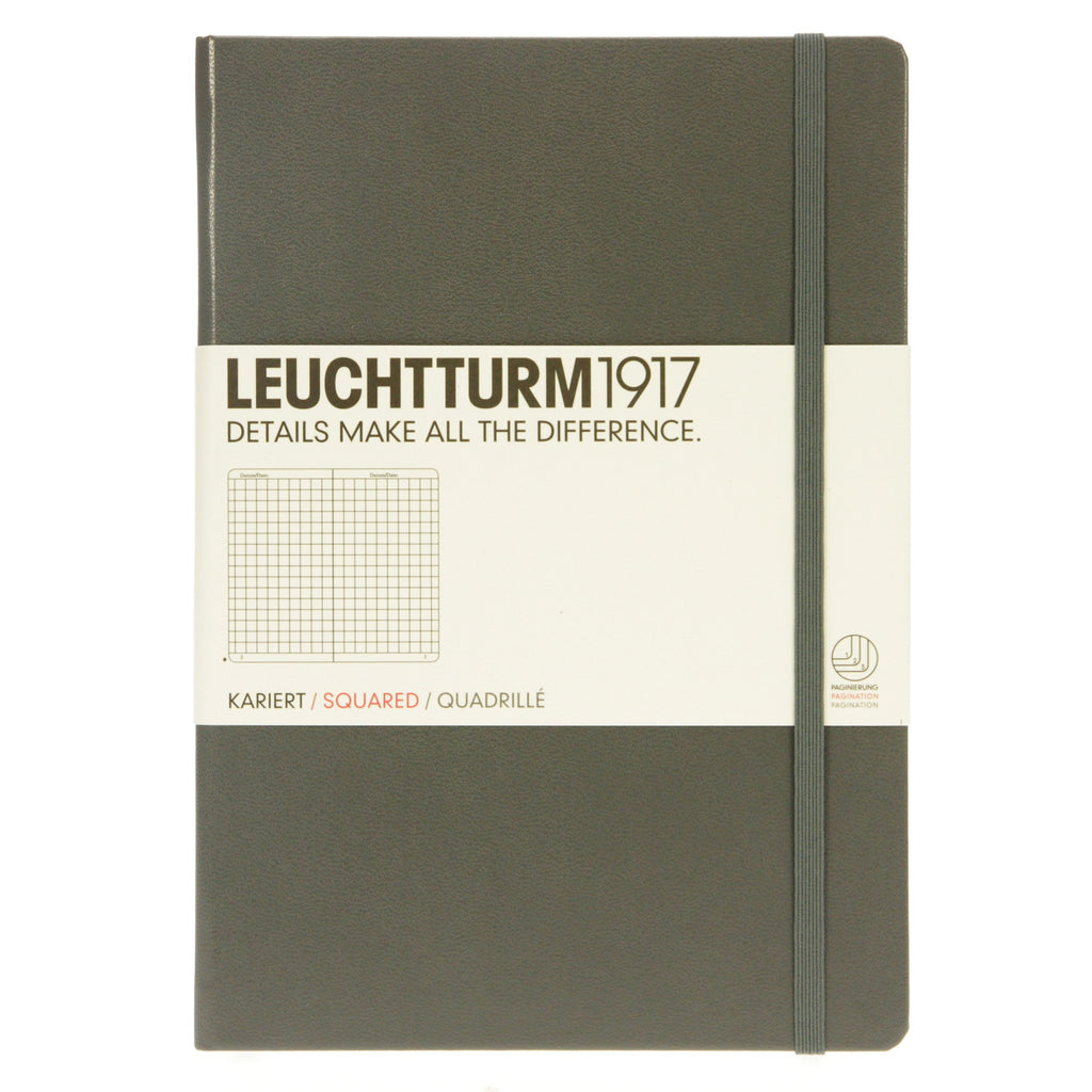 Leuchtturm 1917 Notebook Medium Squared Anthracite