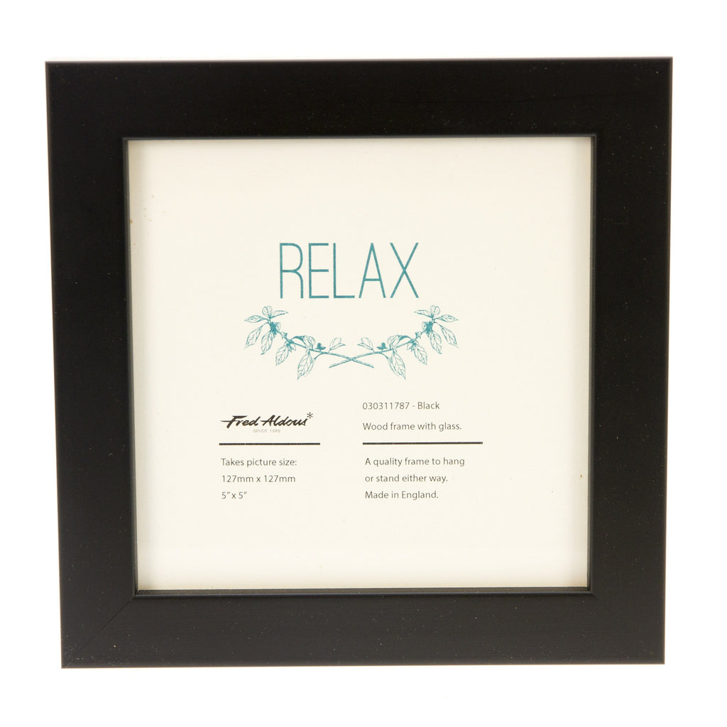 "Picture Frame - Black - 5"" x 5"""