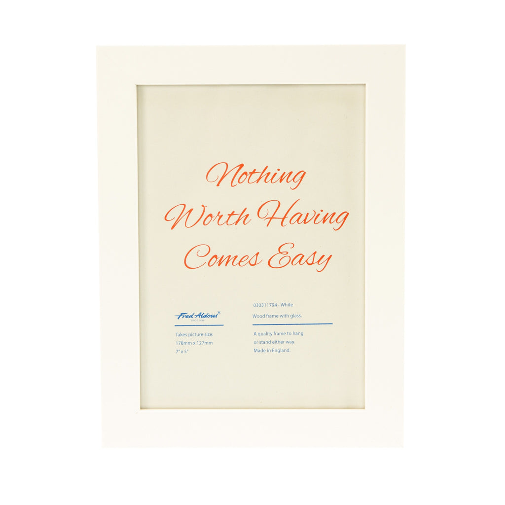 "Picture Frame - White - 7"" x 5"""