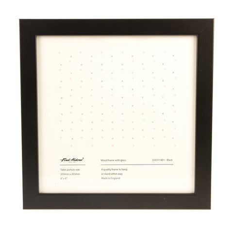 "Picture Frame - Black - 8"" x 8"""
