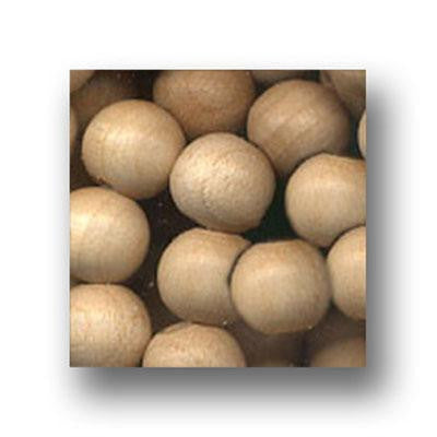 Wood Beads Natural 12mm Round 100 Pack