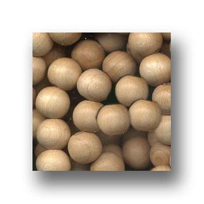 Wood Beads Natural 8mm Round 100 Pack