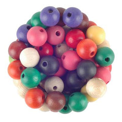 Wood Beads 10mm Round 100 Pack