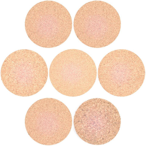 Cork Mats - 6mm thick cork - Pack of 5 - Various diameters