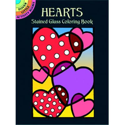 Little Stained Glass Hearts