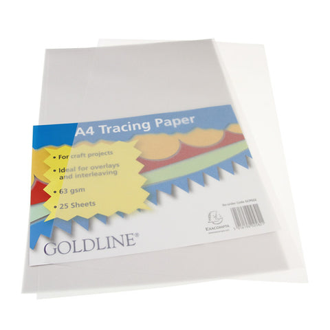 Tracing Paper Pack - A4 25pk - 63gsm