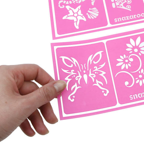 Snazaroo Face Paint Stencils - Pink Set