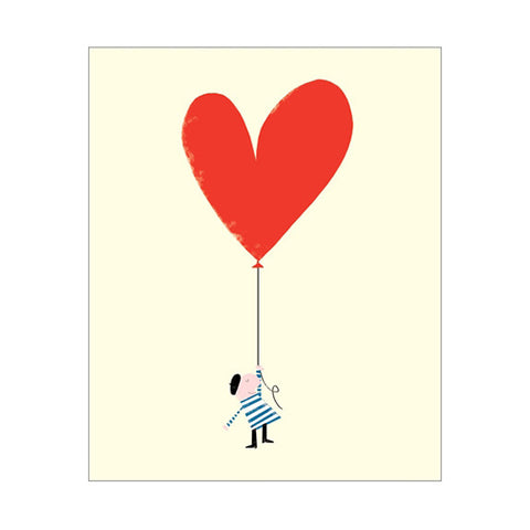 Ink Press Greetings Card - Heart Balloon
