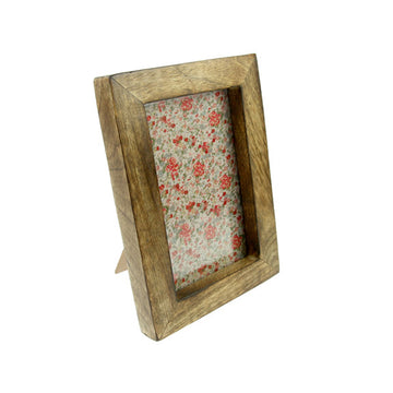 Single Portrait Photo Frame - Dark Wood Effect