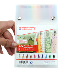 Textile Marker 4600 10pk Assorted Colours