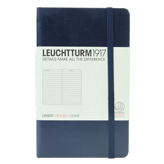 Leuchtturm 1917 Notebook Pocket Lined Navy