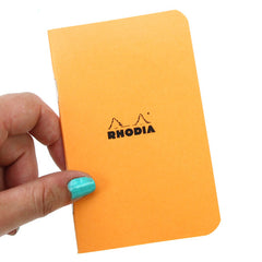 Rhodia Small Squared Pad Orange 7.5 x 12 cm