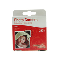 Photo Corners Black 250pcs