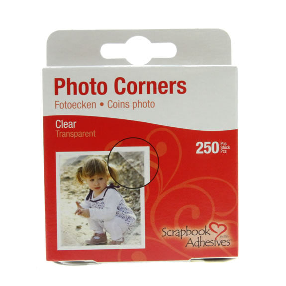Photo Corners Clear 250pcs