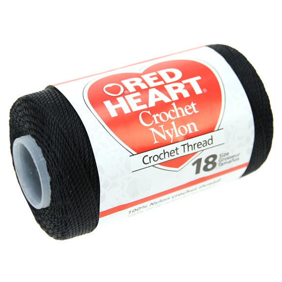 Red Heart - Crochet Nylon #18 - Black
