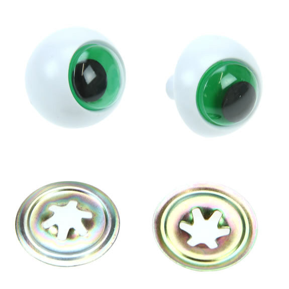 Darice - Frog Eyes Green 24mm - 1 Pair