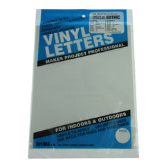 Vinyl Letters & Numbers Set - Gothic White