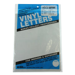 Vinyl Letters & Numbers Set - Gothic White - 3214 - 1""