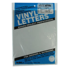 Vinyl Letters & Numbers Set - Gothic White - 3215 - 2""