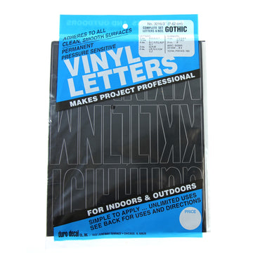 Vinyl Letters & Numbers Set - Gothic Black - 3216 - 3""