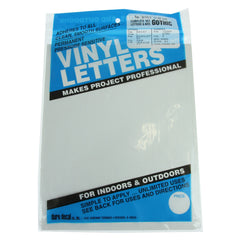 Vinyl Letters & Numbers Set - Gothic White - 3216 - 3""