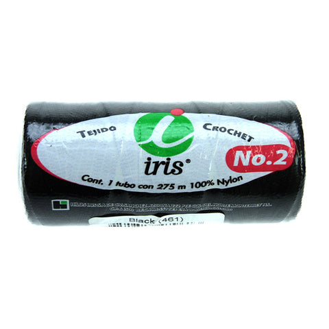 Iris Crochet Thread Nylon #2 - Black