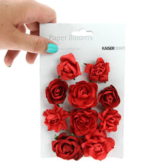 Paper Blooms - Fire Red