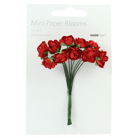 Paper Mini Blooms - Fire Red
