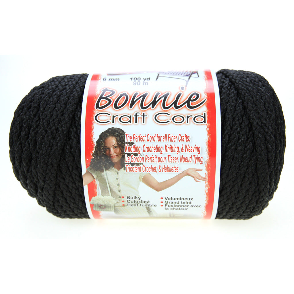 Bonnie Craft Cord 6mm - Black