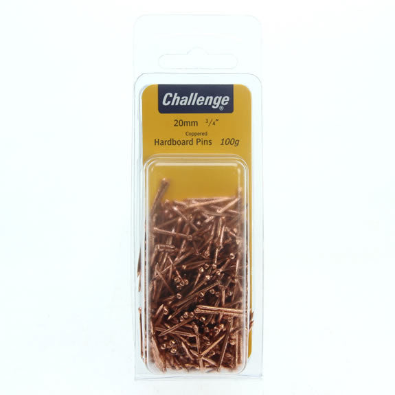 FS 20mm Hardboard Pins Coppered 100g
