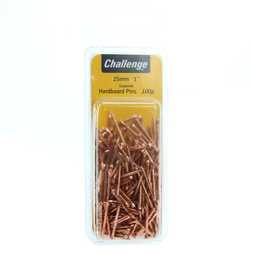 FS 25mm Hardboard Pins Coppered 100g