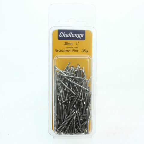 FS Escutcheon Pins 25mm 100g Stainless Steel