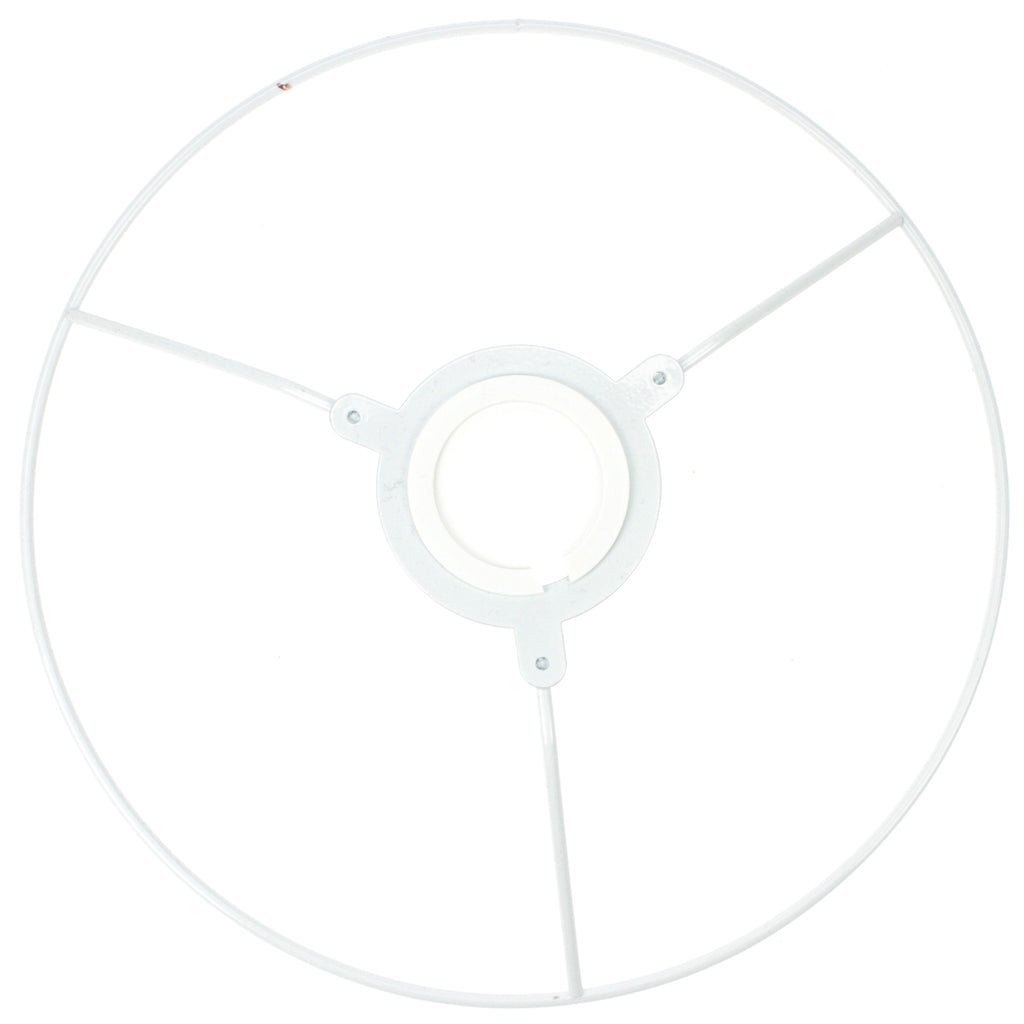 White Coated Lampshade Frame Utility Ring – Fred Aldous