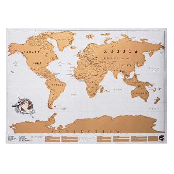 Scratch Map Poster