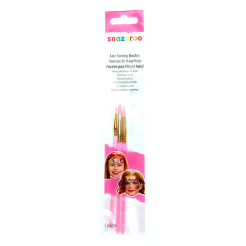 Snazaroo Brush Set Pk3 Pink