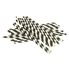 Rico Paper Straws White / Black Mix 24pk