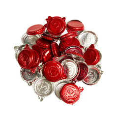 Red Foil Milk Bottle Seal 50pk