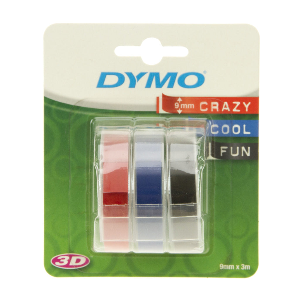 Dymo Tape Blue, Red, Black